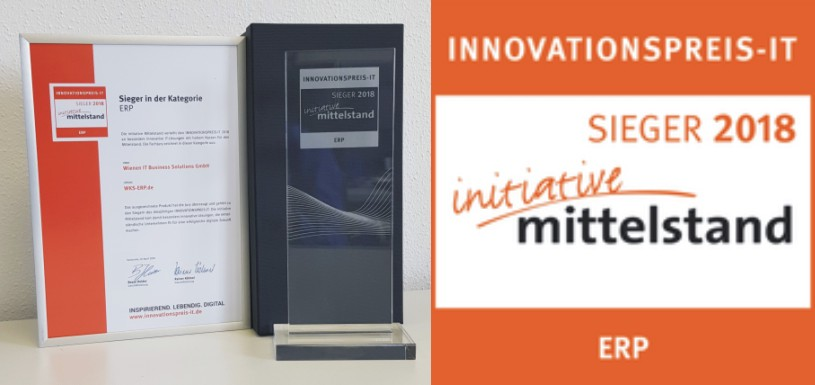 Sieger Innovationspreis WKS ERP
